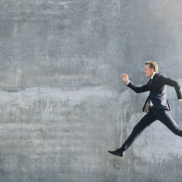 man jumping in air