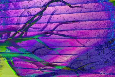 purple abstract art with branches