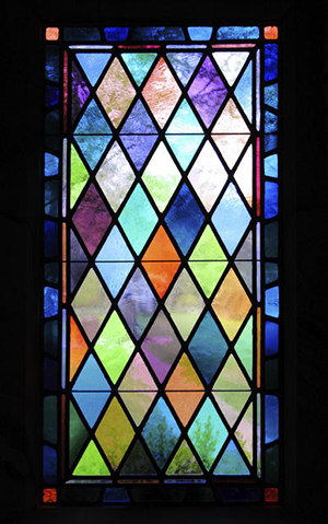 Stained Glass Window in Historic Church