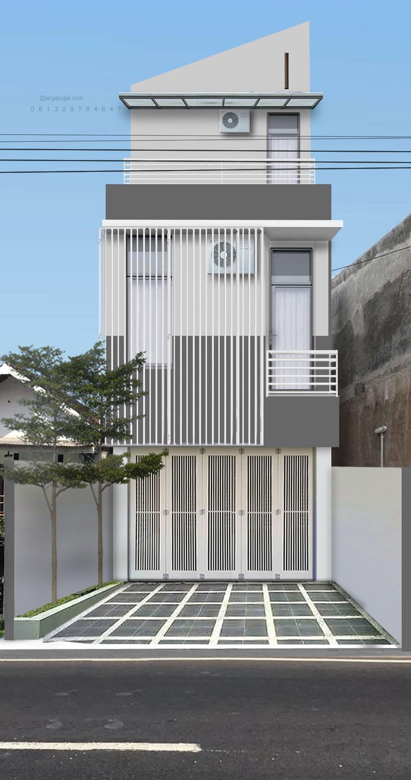 Fasad Ruko Modern : fasad, modern, Desain, Fasad, Argajogja