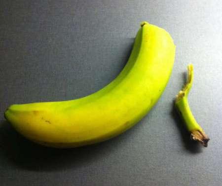 Banan. Jag är dålig på att skala bananer!