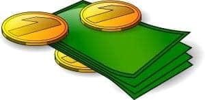 Pengar, mynt och sedlar. Hittar pengar.
