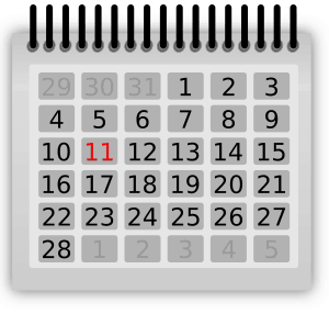 Almanacka, kalender