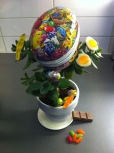 äggplantan med påskägg