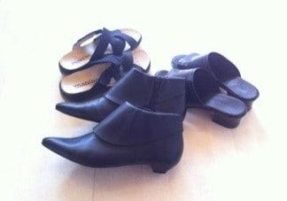 Nya skor, fått av svärmor! Tofflor, sandaler och spetsiga kängor. Rensat garderoben.