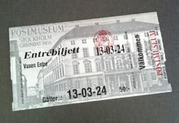 Entrébiljett Postmuseum