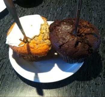 Muffins från the Muffin bakery. Planer i stöpet, så vi gjorde en dag på stan.