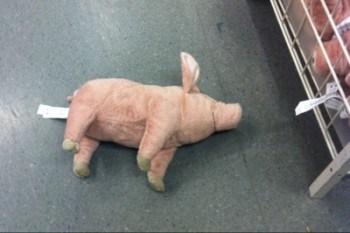 Gris, gosedjur, på IKEA