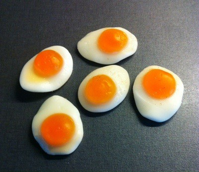 Stekta ägg, godis