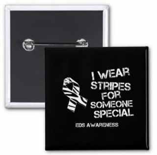 EDS pin, I wear stripes for someone special. EDS awareness, Ehlers-Danlos syndrom. Vill du köpa en EDS-pin så förmedlar jag det!