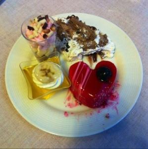 Desserter, lyx-restaurang