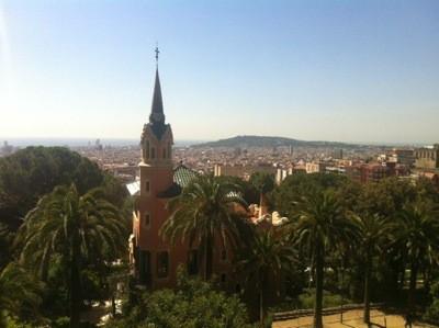 Vy över Barcelona