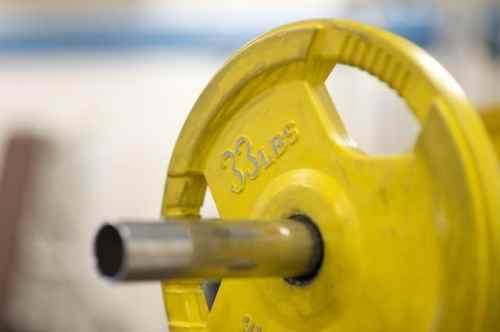 Skivstång, vikter, gym, träning
