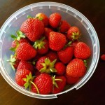Bad och jordgubbar