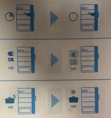 Instruktioner för kylskåp