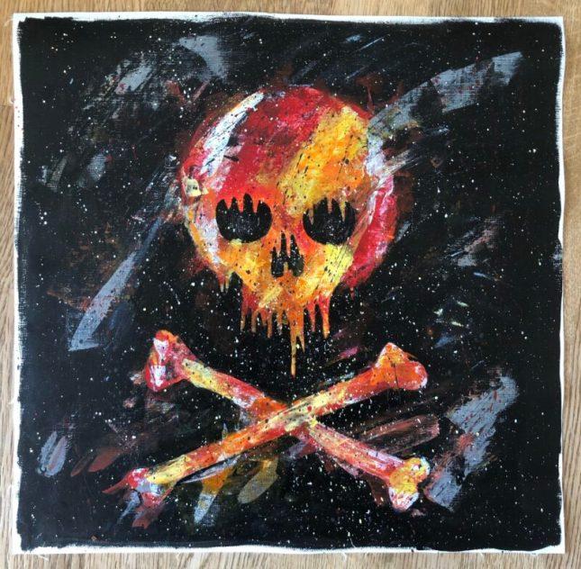 Jolly Roger , målning i akrylfärg på kanvas