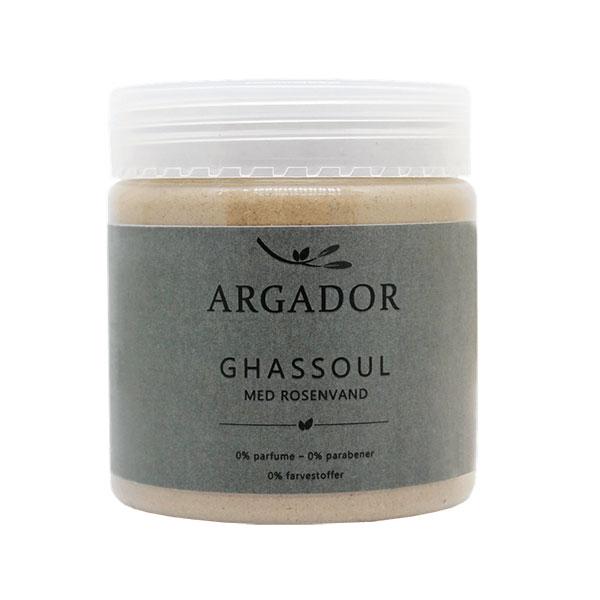 Ghassoul ler med rosenvand