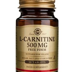L-Carnitina 500mg 30 comprimidos Solgar