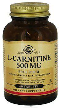 L-Carnitina 500mg 60 comprimidos Solgar