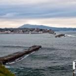 El fuerte de Socoa desde San Juan de Luz