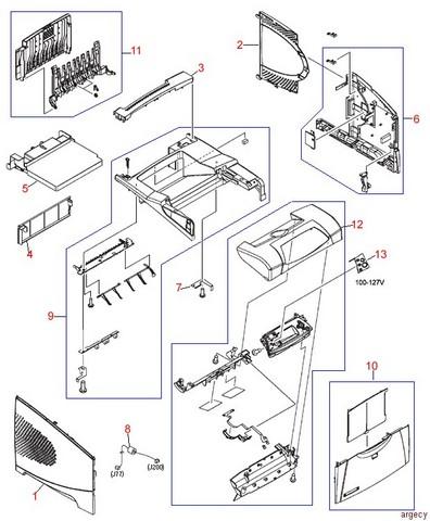 Hp Laserjet 4250 Parts Diagram HP Printer Parts Diagram