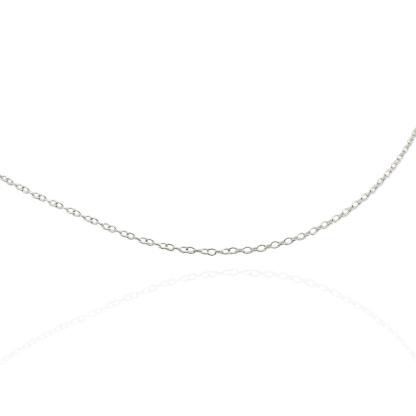 1mm silver trace chain