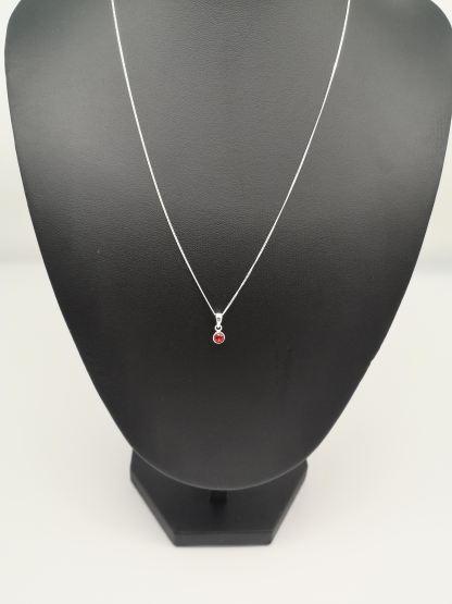 925 silver red cz pendant