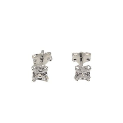 sterling silver square studs