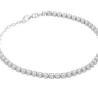 925 silver cz tennis bracelet
