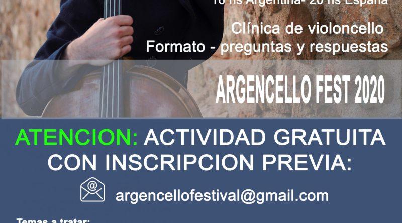 Argencello Fest 2020: Clínica de violoncello a cargo de Alfredo Ferré