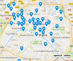 carte du crowdfunding a Paris