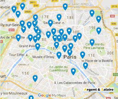 carte du crowdfunding a Paris