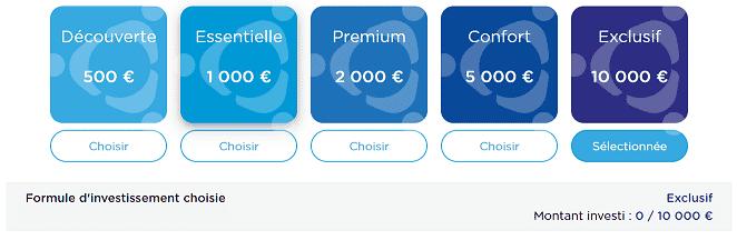 Bienprêter Formule d'investissement à 10 000€