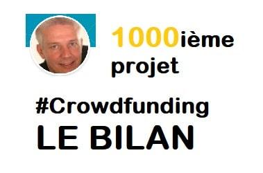 1000ième projet CrowdFunding - 19 plateformes - 91K€ prêtés - Le Bilan 1
