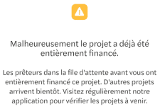 October File d'attente investissement -N'a pas pu aboutir