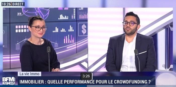 Jérémie Benmoussa Co-fondateur Fundimmo sur BFMTV