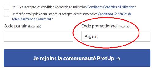 Code parrain Pretup - Code promotionnel Pretup