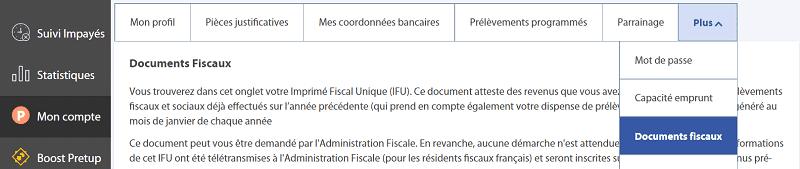 Où trouver son IFU Pretup pour la déclaration d'Impôts sur le Revenu ?