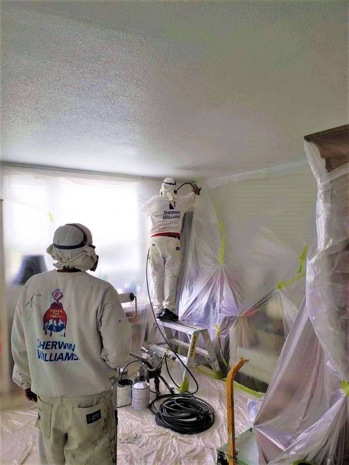 Masking everything before spray painting