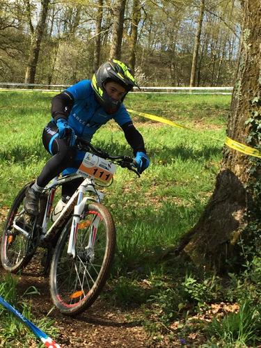 Thibault Pradal lors de l'épreuve de descente.