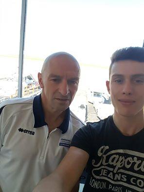 Christophe et Thomas prêts à s'envoler vers la Suède.