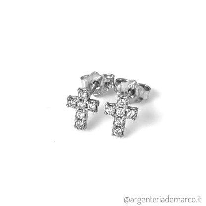 Orecchini Croce Argento 925