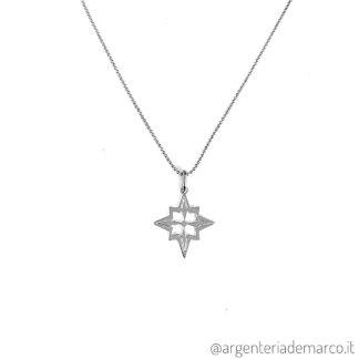 Collana Rosa dei Vennti in Argento 925