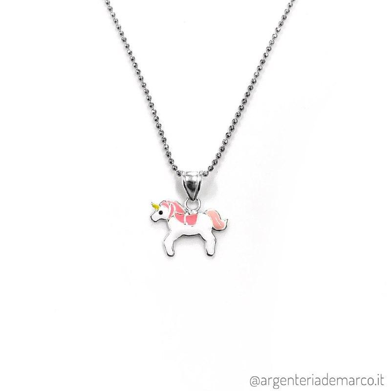 Collana Bambina Unicorno in Argento