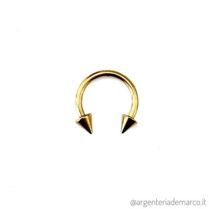 Piercing Cerchietto Oro con Punte