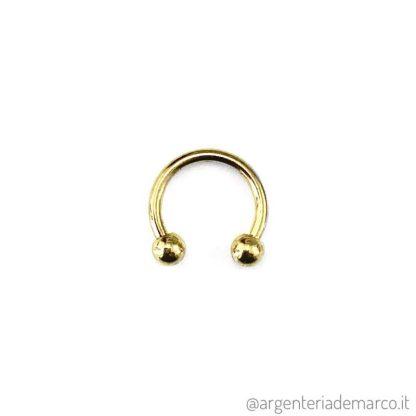 Piercing Cerchietto Oro con Palline da 3mm