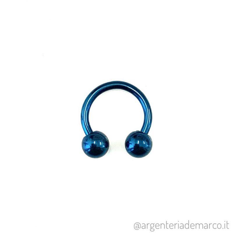 Piercing Cerchietto Blu con Palline