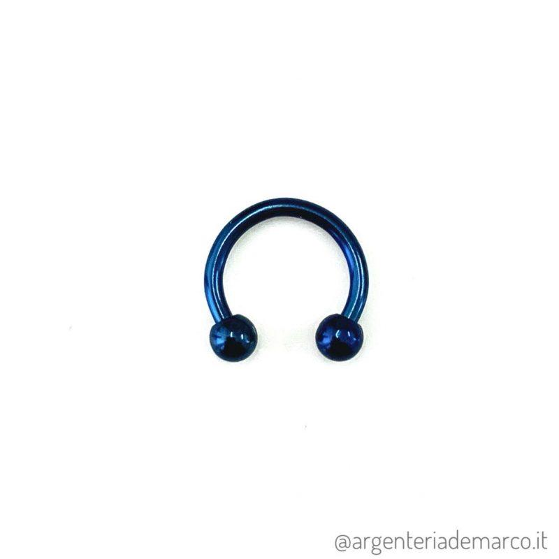 Piercing Cerchietto Blu con Palline da 3mm