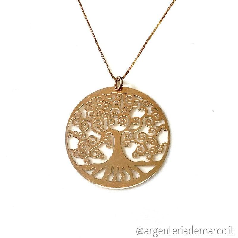 Collana Albero Della Vita Rosè in Argento 925
