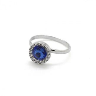 Anello In Argento Cristallo Blu